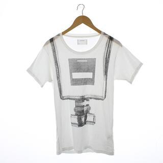 ヨシオクボ(yoshio kubo)のヨシオクボ Tシャツ カットソー 半袖 プリント 2 M 白 ホワイト /NM(Tシャツ/カットソー(半袖/袖なし))