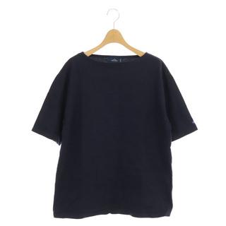 セントジェームス(SAINT JAMES)のセントジェームス カットソー 半袖 プルオーバー ボートネック ML 紺(Tシャツ/カットソー(七分/長袖))