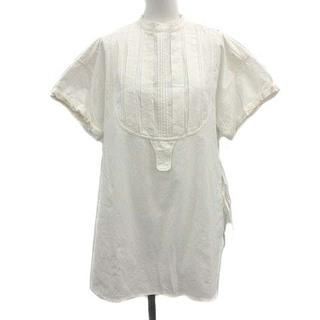 トゥデイフル(TODAYFUL)のトゥデイフル ハーフスリーブ ドレス シャツ ブラウス 半袖 コットン F 白(シャツ/ブラウス(半袖/袖なし))