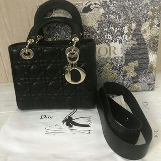 クリスチャンディオール(Christian Dior)のDior レディディオールハンドバッグ黒(ハンドバッグ)
