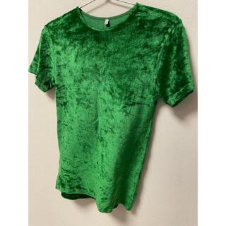 ビューティアンドユースユナイテッドアローズ(BEAUTY&YOUTH UNITED ARROWS)のbaserange ベースレンジ  ベロアt omot グリーン(Tシャツ(半袖/袖なし))