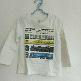 Design Tshirts Store graniph - graniph キッズ 長袖Tシャツ 電車の図鑑