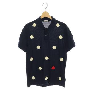 モンクレール(MONCLER)のモンクレール ロゴワッペンポロシャツ 半袖 鹿の子 国内正規 M 紺(ポロシャツ)