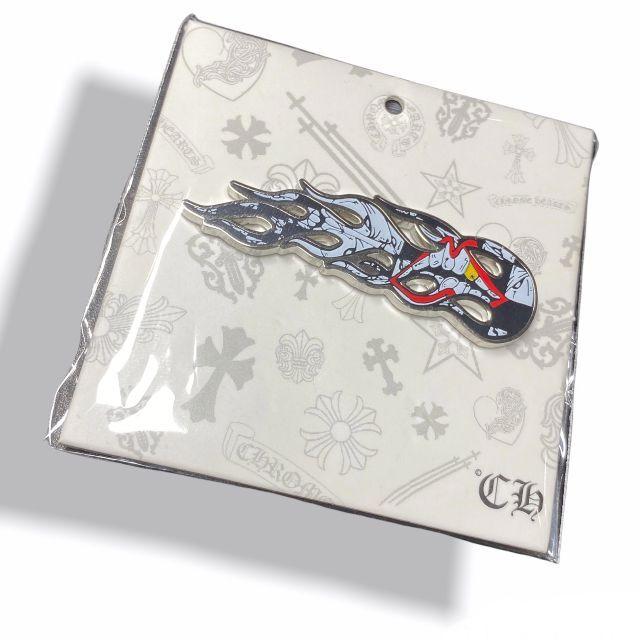 Chrome Hearts(クロムハーツ)のクロムハーツ マッティーボーイ ピンバッジ フレイム メンズのアクセサリー(その他)の商品写真