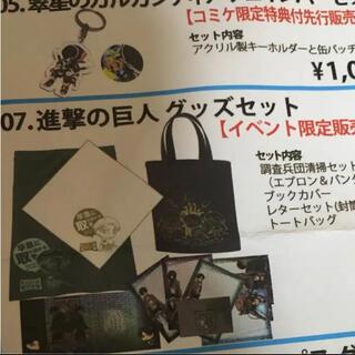【レア】コミケ限定 進撃の巨人 イベントグッズセット(その他)