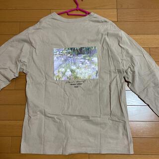 フリークスストア(FREAK'S STORE)のアートフラワー Tシャツ ロンT ベージュ(Tシャツ(長袖/七分))