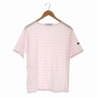 セントジェームス(SAINT JAMES)のセントジェームス Tシャツ カットソー ボートネック 半袖  ボーダー ピンク(Tシャツ/カットソー(半袖/袖なし))
