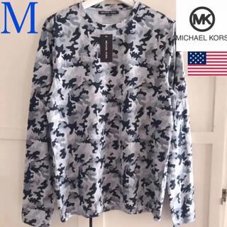 マイケルコース(Michael Kors)のレア 新品 マイケルコース USA メンズロングTシャツ M 迷彩(Tシャツ/カットソー(七分/長袖))