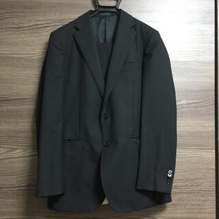 アオヤマ(青山)のメンズ スーツ 上下セット ヒルトン A6 黒 ストライプ  洋服の青山(セットアップ)