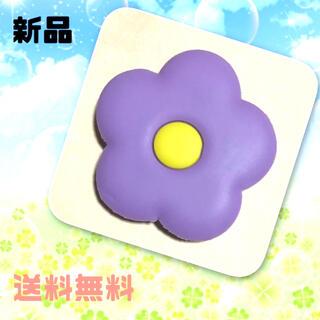 【新品】ポップソケット スマホグリップ 花 はな パープル 紫(その他)