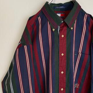 トミーヒルフィガー(TOMMY HILFIGER)のトミーヒルフィガー ストライプ BDシャツ ボタンダウン TOMMY ビンテージ(シャツ)