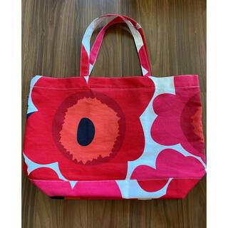 マリメッコ(marimekko)のマリメッコ、ビックトート、中古、マザーズバッグにも、赤、花柄(トートバッグ)