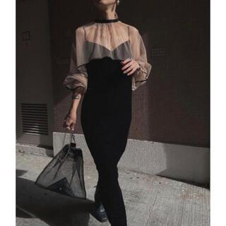 アメリヴィンテージ(Ameri VINTAGE)のameri vintage MANY WAY TULLE VEIL DRESS(ロングドレス)