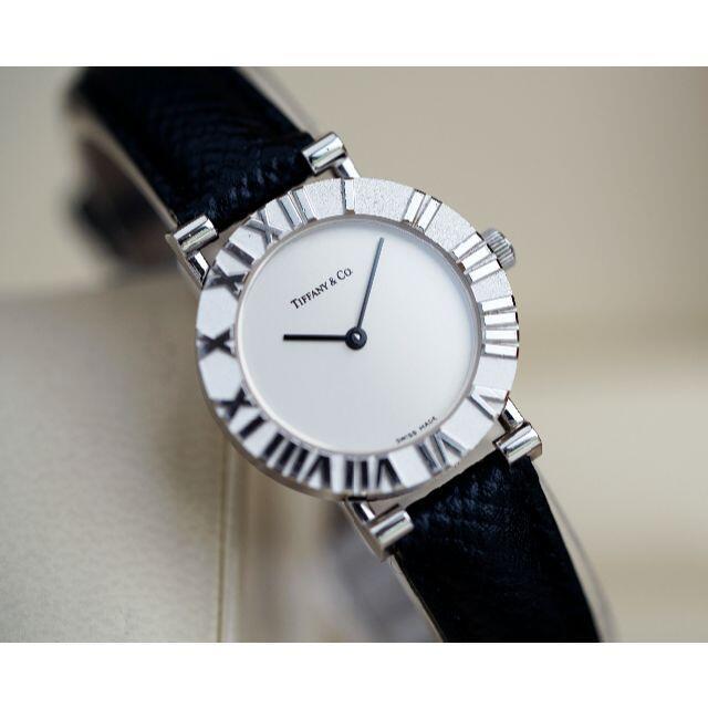 Tiffany & Co.(ティファニー)の美品 ティファニー アトラス シルバー ローマン レディース Tiffany レディースのファッション小物(腕時計)の商品写真