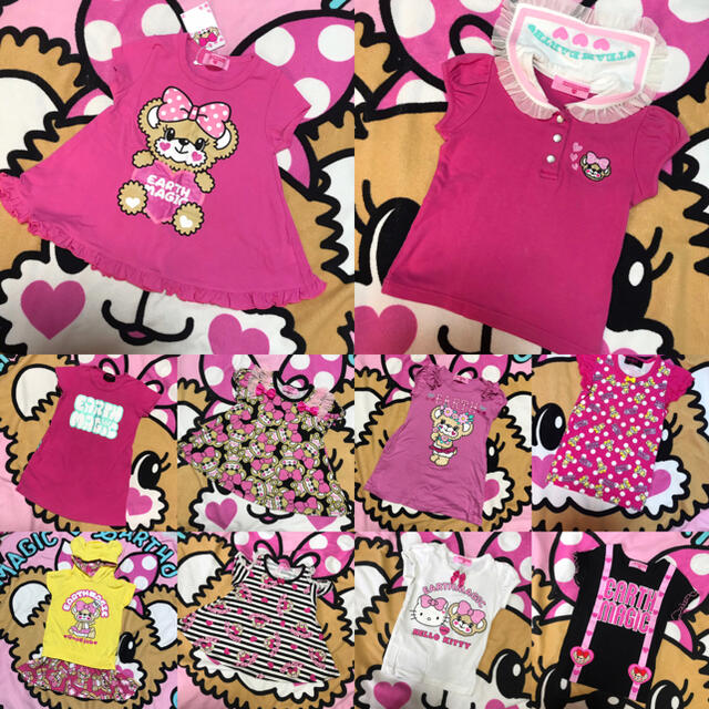 EARTHMAGIC(アースマジック)のアースマジック夏物セット💗 キッズ/ベビー/マタニティのキッズ服女の子用(90cm~)(Tシャツ/カットソー)の商品写真