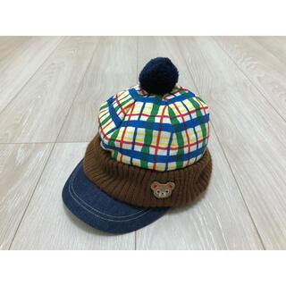 ミキハウス(mikihouse)のミキハウス 帽子 ニット帽 L 52cm 54cm 100cm 110cm(帽子)