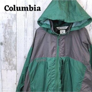 コロンビア(Columbia)の90s コロンビア マウンテンパーカー 裏メッシュグリーン(緑)ブラック(黒)L(マウンテンパーカー)