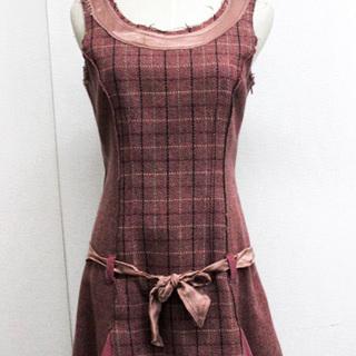 マックスアンドコー(Max & Co.)のマックスアンドコー ラウンドネック リボン ツイード スカート ノースリーブ(その他)