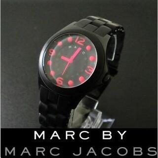 マークバイマークジェイコブス(MARC BY MARC JACOBS)の【稼働美品】 マークバイマークジェイコブス  Pelly ブラック(腕時計)
