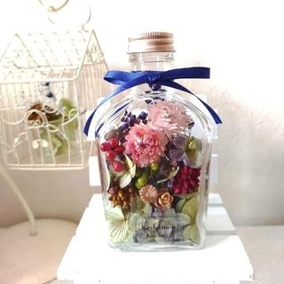 秋色*オレガノグリーン紫陽花とお花のハーバリウム*(ドライフラワー)