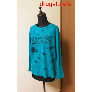 ドラッグストアーズ(drug store's)のdrugstore's  カットソー 長袖 ブルー ユーズド(Tシャツ(長袖/七分))