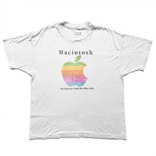 90sヴィンテージ|Apple Macintosh Tシャツ [XL](Tシャツ/カットソー(半袖/袖なし))