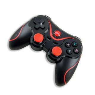 PS3 ワイヤレスコントローラー PS3 PC対応 ブラック&レッド 互換品(その他)