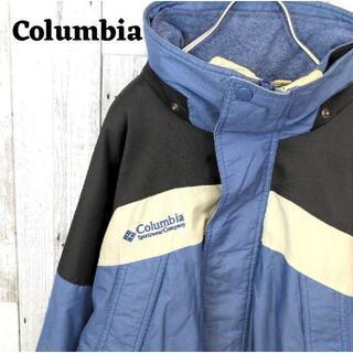 コロンビア(Columbia)の90s コロンビア 3WAY マウンテンジャケット ブルー(青)ブラック(黒)L(マウンテンパーカー)