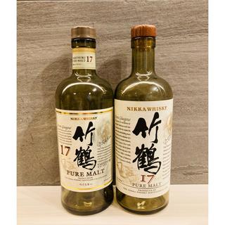 ニッカウイスキー(ニッカウヰスキー)の【希少】竹鶴 17年 新旧ボトル 空瓶セット(ウイスキー)