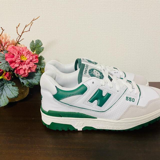 New Balance(ニューバランス)のニューバランス BB550WT1 グリーン 26cm メンズの靴/シューズ(スニーカー)の商品写真