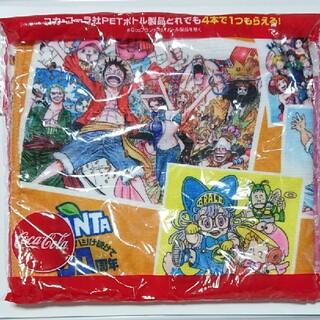 コカコーラ(コカ・コーラ)のジャンプ50周年記念 オリジナルデザイン ふんわりマフラータオル(ノベルティグッズ)