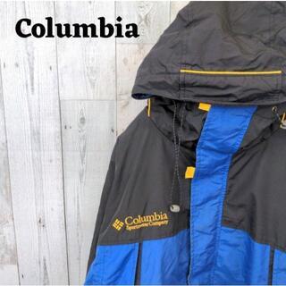 コロンビア(Columbia)の90s コロンビア マウンテンパーカー ブルー(青)ブラック(黒)3L(マウンテンパーカー)