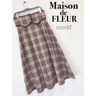 Maison de FLEUR - Maison de FLEUR コルセットベルトチェックスカート