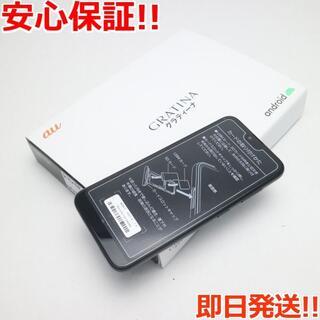キョウセラ(京セラ)の新品 KYV48 GRATINA ブラック  SIMロック解除済み(スマートフォン本体)