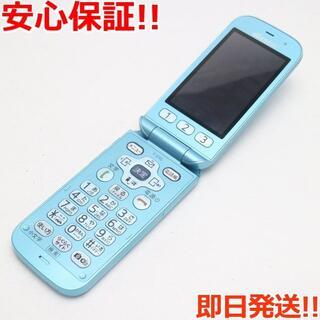 フジツウ(富士通)の超美品 F-01G らくらくホン ベーシック4 ブルー (携帯電話本体)