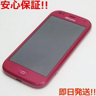 フジツウ(富士通)の超美品 F-01L らくらくスマートフォン me ピンク (スマートフォン本体)