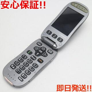 フジツウ(富士通)の良品中古 F-07A メタルシルバー 白ロム(携帯電話本体)