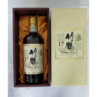 ニッカウイスキー(ニッカウヰスキー)のニッカ 竹鶴17年 化粧箱 箱付き 終売品(ウイスキー)