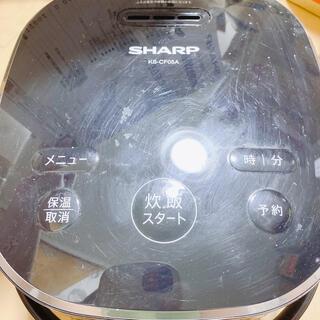 シャープ(SHARP)のSHARP KS-CF05A-B ジャー炊飯器 2018年製 黒 ジャンク品(炊飯器)