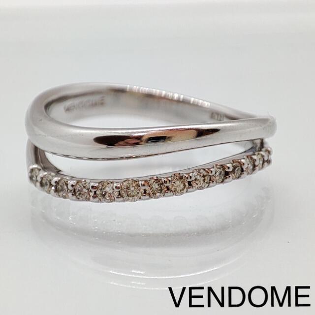 Vendome Aoyama(ヴァンドームアオヤマ)のヴァンドーム ダイヤモンド リング K18WG 神楽坂宝石 レディースのアクセサリー(リング(指輪))の商品写真