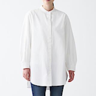 MUJI (無印良品) - 無印良品 洗いざらしオックスチュニック 白