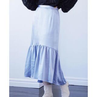 ヴィス(ViS)のVIS サテンマーメイドスカート サックスブルー(ロングスカート)