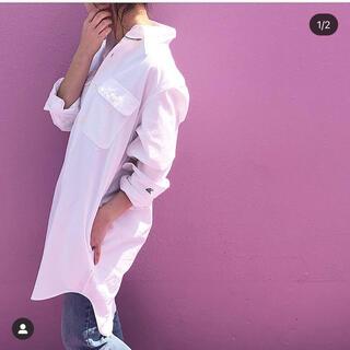 マディソンブルー(MADISONBLUE)のマディソンブルー ハンプトンロングシャツ 白 サイズ00(シャツ/ブラウス(長袖/七分))