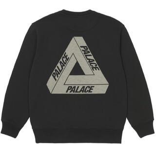21AW PALACE SLUB CREW BLACK L(スウェット)