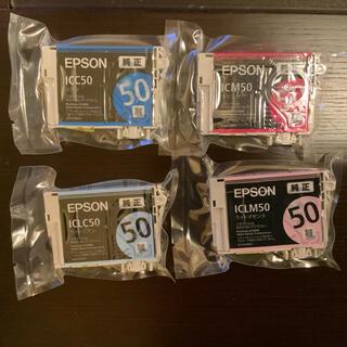 エプソン(EPSON)のEPSON インクジェットプリンタの純正インク4個(オフィス用品一般)