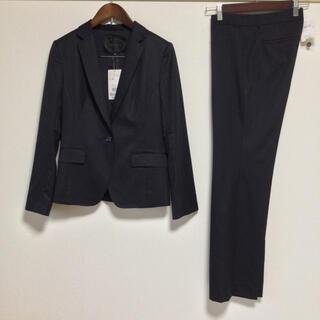 アンタイトル(UNTITLED)の【新品同様】アンタイトル パンツスーツ 2 日本製 通年 ストライプ OL 行事(スーツ)
