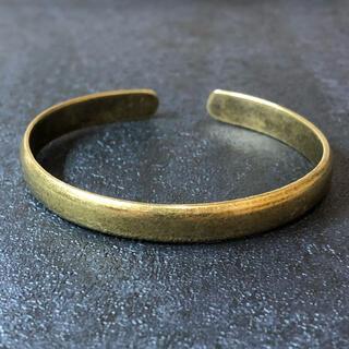 真鍮 バングル A ヴィンテージ調 シンプル アクセサリー ブレスレット