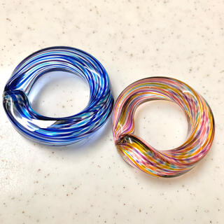 箸置き ガラス製 2つセット