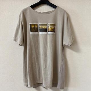 しまむら - しまむら てらさんさん TRWフハクキリカエPO Tシャツ 淡薄橙 Mサイズ