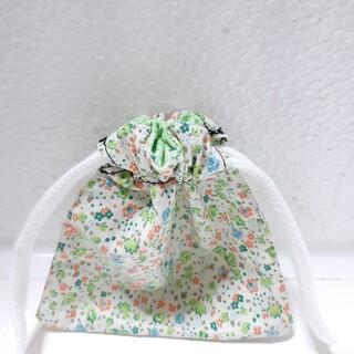 小花柄 ミニ巾着袋(外出用品)